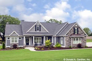 House Plan Design - Craftsman Exterior - Front Elevation Plan #929-1025