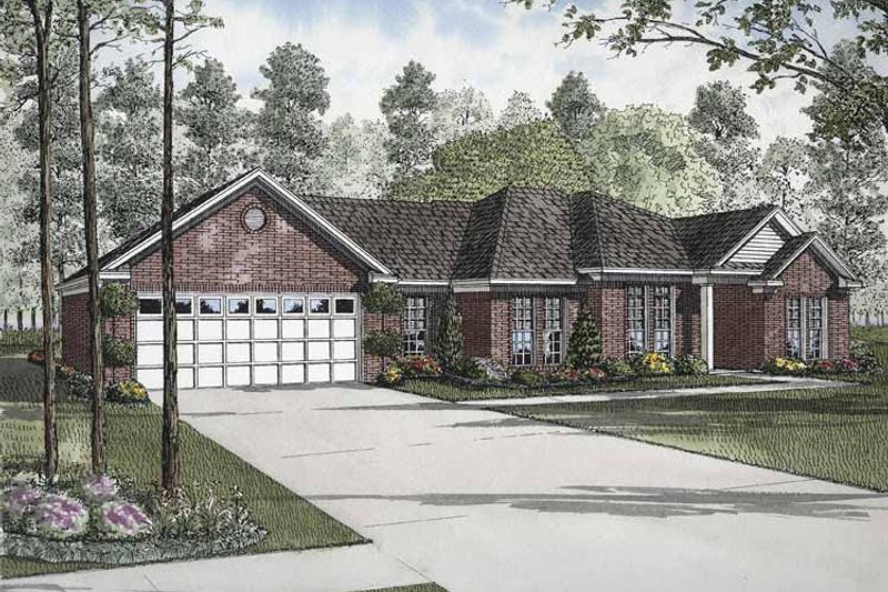 Ranch Exterior - Front Elevation Plan #17-2836