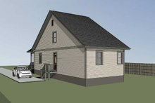 House Plan Design - Cottage Exterior - Rear Elevation Plan #79-176