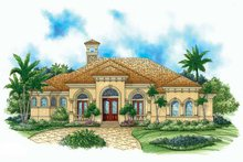 Home Plan - Mediterranean Exterior - Front Elevation Plan #1017-15