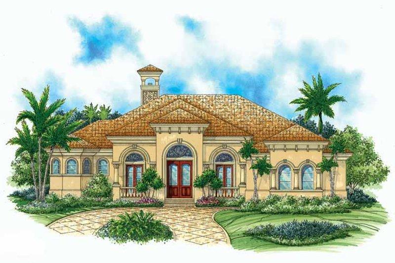 Mediterranean Exterior - Front Elevation Plan #1017-15 - Houseplans.com