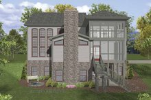 Dream House Plan - Traditional Exterior - Rear Elevation Plan #56-679