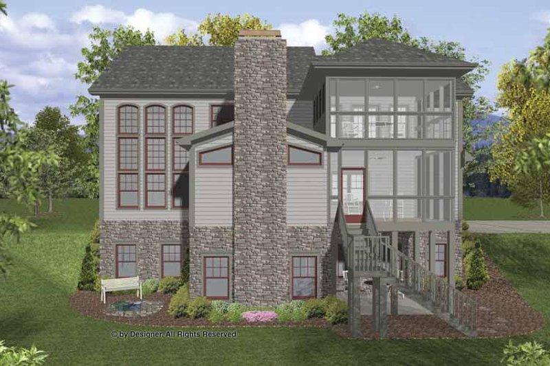 Traditional Exterior - Rear Elevation Plan #56-679 - Houseplans.com