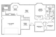Ranch Floor Plan - Main Floor Plan Plan #1060-35