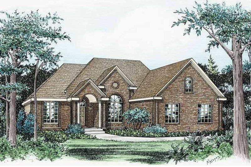 Traditional Exterior - Front Elevation Plan #20-2231 - Houseplans.com