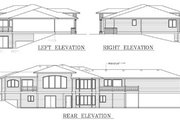 Ranch Style House Plan - 4 Beds 4 Baths 4453 Sq/Ft Plan #100-456 Exterior - Rear Elevation