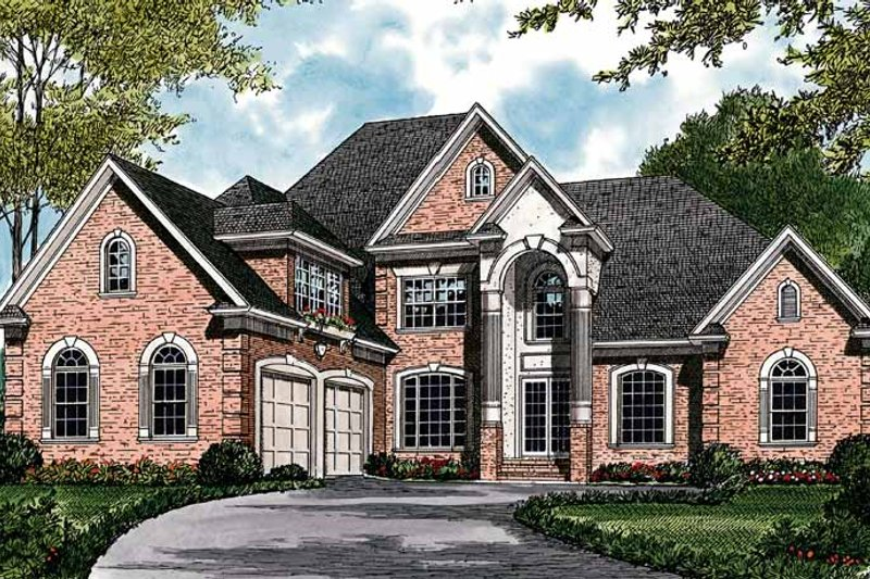 Traditional Exterior - Front Elevation Plan #453-407 - Houseplans.com