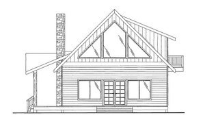 Cottage Exterior - Front Elevation Plan #117-712