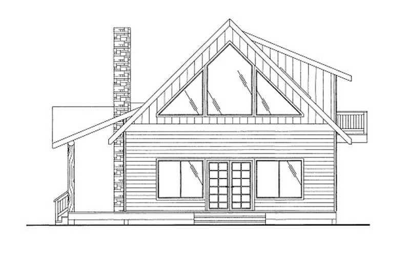 Cottage Style House Plan - 2 Beds 2 Baths 1500 Sq/Ft Plan #117-712 Exterior - Front Elevation