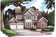European Exterior - Front Elevation Plan #927-597