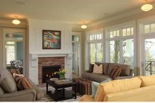 Craftsman Interior - Family Room Plan #928-175