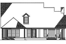 Architectural House Design - Country Exterior - Rear Elevation Plan #17-2767