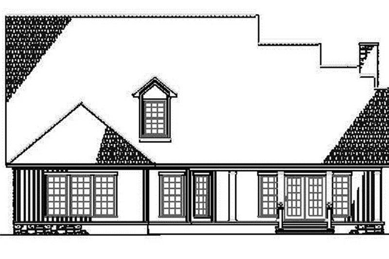 Country Exterior - Rear Elevation Plan #17-2767 - Houseplans.com
