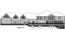 Dream House Plan - Craftsman Exterior - Rear Elevation Plan #117-684