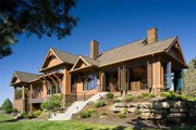 Craftsman Style House Plan - 5 Beds 3.5 Baths 5266 Sq/Ft Plan #48-640 Exterior - Rear Elevation