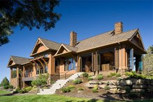 Rear View - 5300 square foot Craftsman home