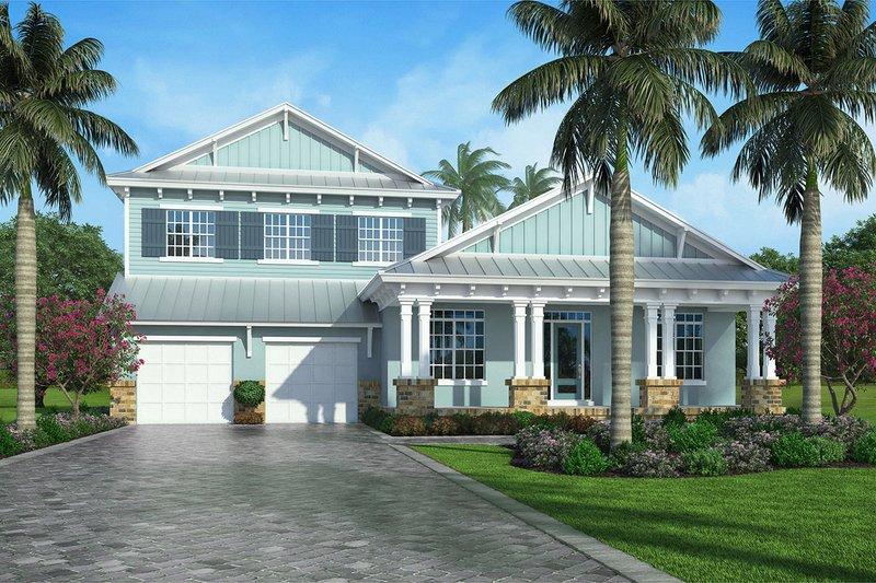 Cottage Exterior - Front Elevation Plan #938-89