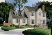 Colonial Style House Plan - 3 Beds 2.5 Baths 1653 Sq/Ft Plan #56-131 Exterior - Front Elevation