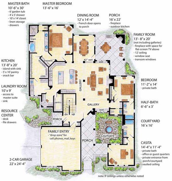House Plan Design - Cottage Floor Plan - Main Floor Plan #410-3568