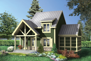 Country Exterior - Front Elevation Plan #25-4619