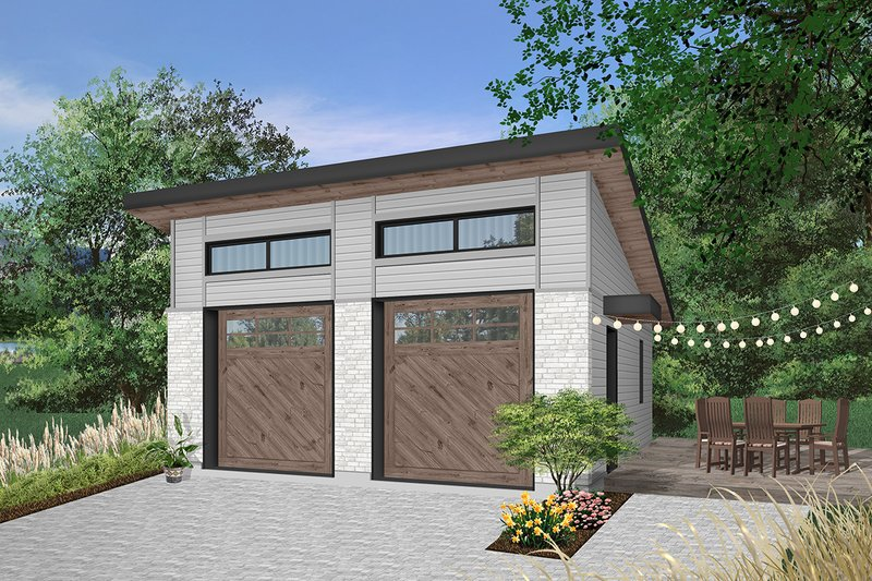 House Plan Design - Contemporary Exterior - Front Elevation Plan #23-2636