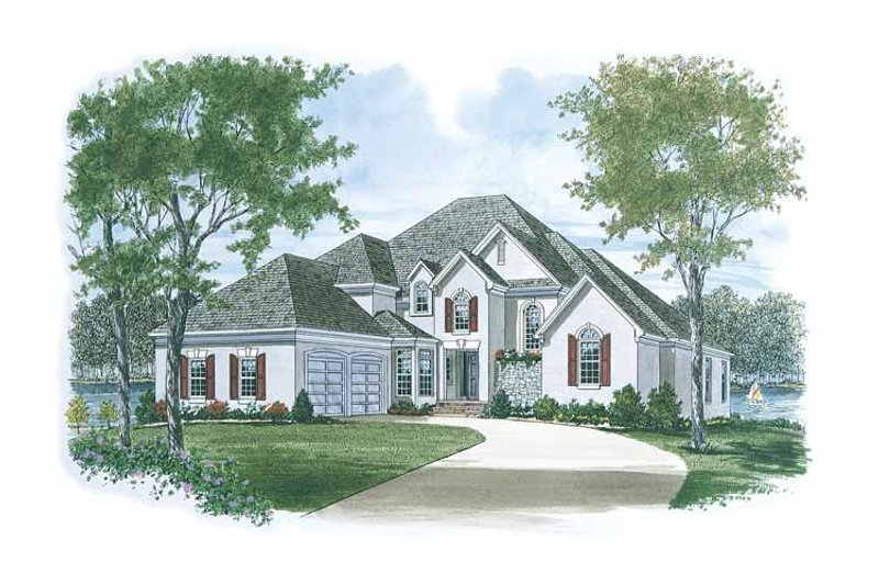 European Exterior - Front Elevation Plan #453-115
