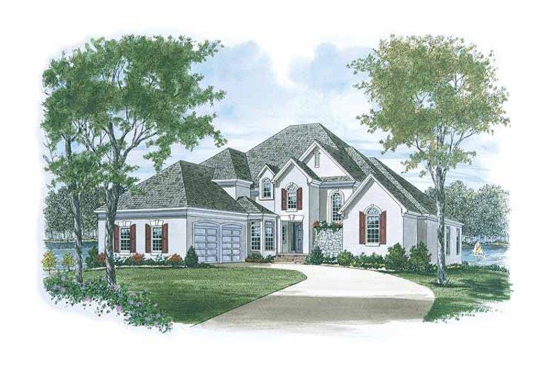 Dream House Plan - European Exterior - Front Elevation Plan #453-115