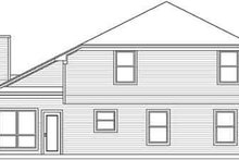 Home Plan - Traditional Exterior - Rear Elevation Plan #84-210