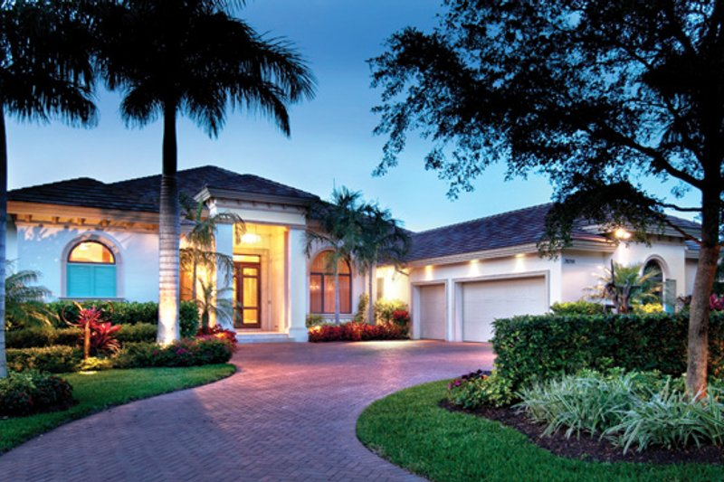Mediterranean Exterior - Front Elevation Plan #930-443 - Houseplans.com