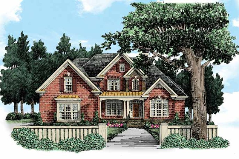 House Plan Design - Traditional Exterior - Front Elevation Plan #927-365