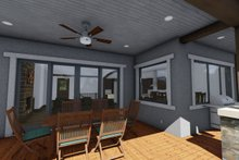 Architectural House Design - Ranch Exterior - Covered Porch Plan #1069-7