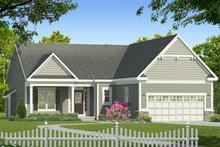 Ranch Exterior - Front Elevation Plan #1010-178
