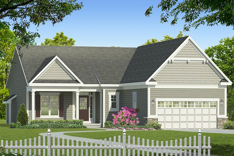 Architectural House Design - Ranch Exterior - Front Elevation Plan #1010-178