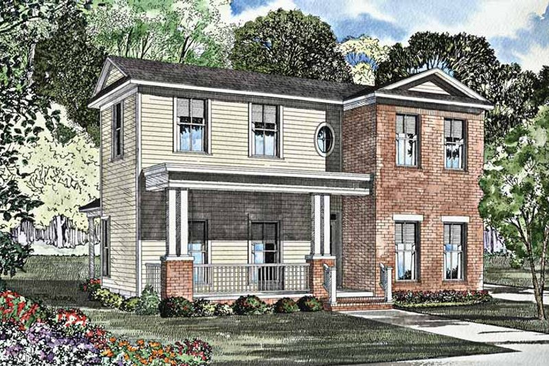 Country Exterior - Front Elevation Plan #17-3005 - Houseplans.com