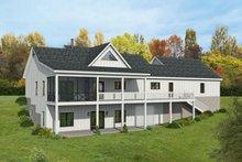 House Plan Design - Farmhouse Exterior - Rear Elevation Plan #932-388