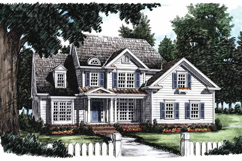 Country Exterior - Front Elevation Plan #927-626