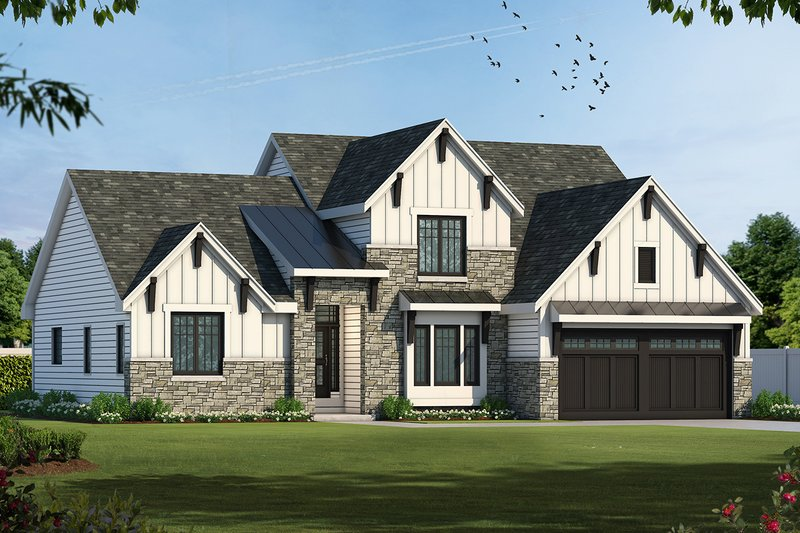 Dream House Plan - Craftsman Exterior - Front Elevation Plan #20-2146