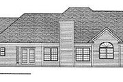 Modern Style House Plan - 3 Beds 2 Baths 2790 Sq/Ft Plan #70-445 Exterior - Rear Elevation