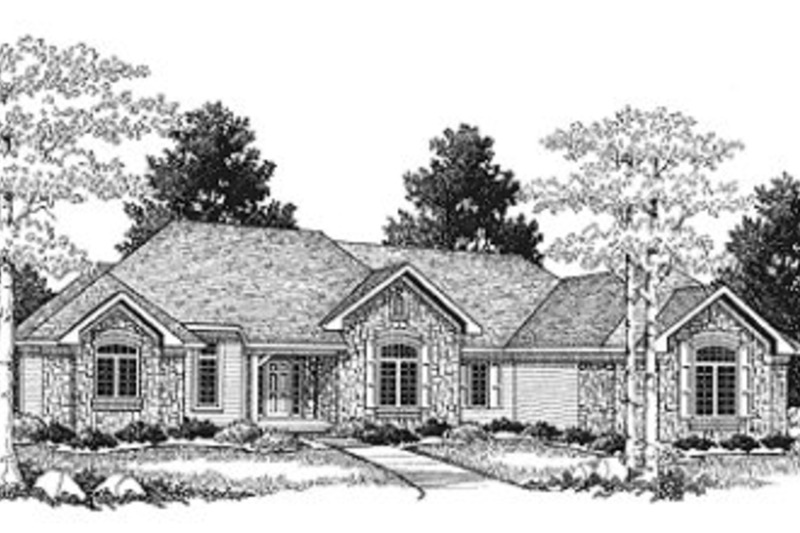 Traditional Exterior - Front Elevation Plan #70-529 - Houseplans.com