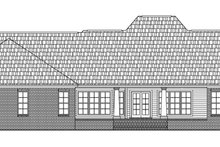 Southern Exterior - Rear Elevation Plan #21-176