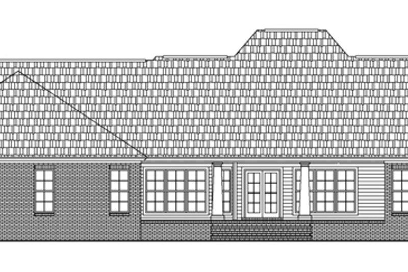 Southern Exterior - Rear Elevation Plan #21-176 - Houseplans.com