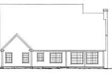 Home Plan Design - Farmhouse Exterior - Rear Elevation Plan #20-381