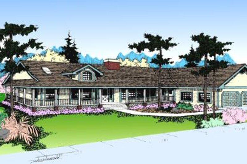 Farmhouse Exterior - Front Elevation Plan #60-161 - Houseplans.com