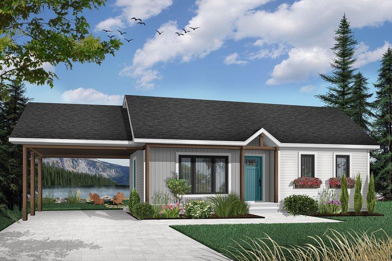 Architectural House Design - Modern Exterior - Front Elevation Plan #23-107