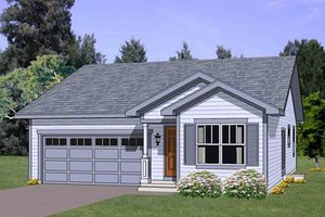 Cottage Exterior - Front Elevation Plan #116-260