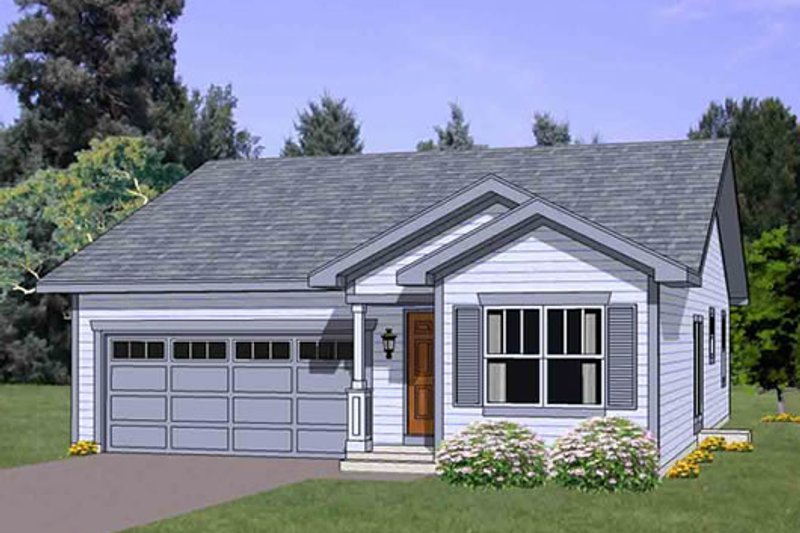 Cottage Style House Plan - 3 Beds 2 Baths 1234 Sq/Ft Plan #116-260 Exterior - Front Elevation