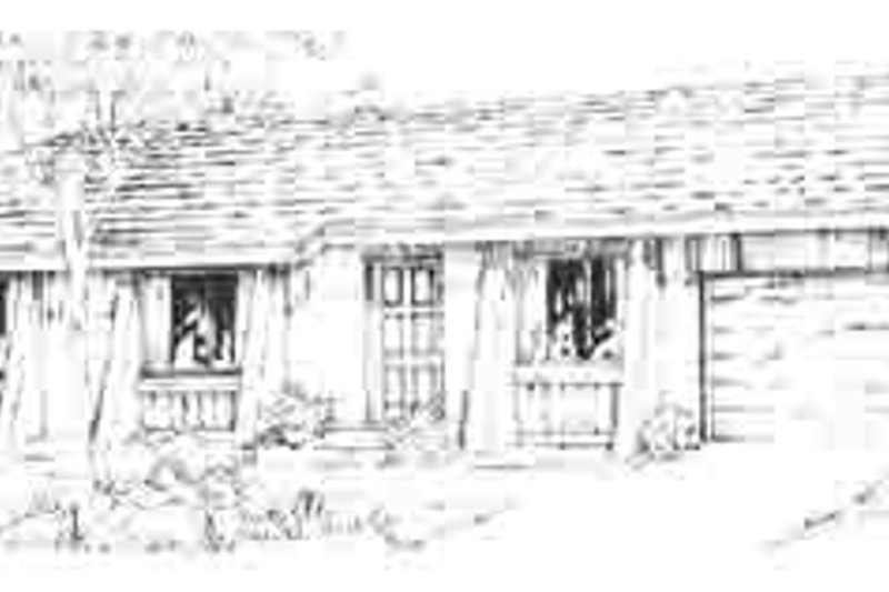 Adobe / Southwestern Style House Plan - 3 Beds 2 Baths 1018 Sq/Ft Plan #1-138 Exterior - Front Elevation