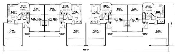 Ranch Floor Plan - Main Floor Plan Plan #20-1561