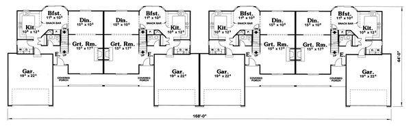 Dream House Plan - Ranch Floor Plan - Main Floor Plan #20-1561