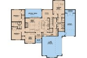 Traditional Style House Plan - 4 Beds 2 Baths 1967 Sq/Ft Plan #923-150 Floor Plan - Main Floor Plan